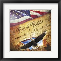 Framed Bill of Rights Eagle Bursting Out