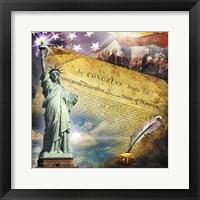 Framed Declaration of Independence