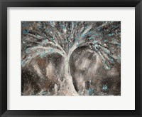 Framed Birches with Blue Birds
