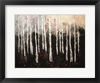 Framed Little Red Birch Forest