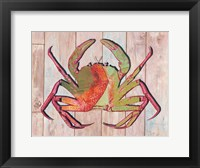 Framed Contemporary Crab II