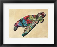 Framed Contemporary Turtle I