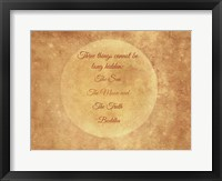 Framed Buddha Moon Quote