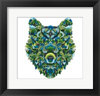 Framed Blooming Animals - Wolf