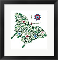 Framed Blooming Animals - Butterfly