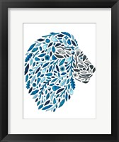Framed Blooming Animals - Lion