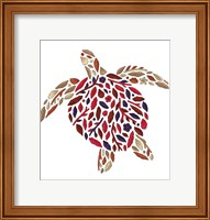 Framed Blooming Animals - Turtle