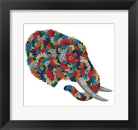 Framed Blooming Animals - Elephant