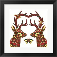 Framed Deer Lovers