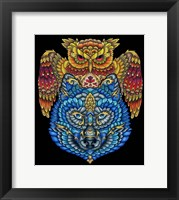 Framed Animals Lovers - Owl & Wolf