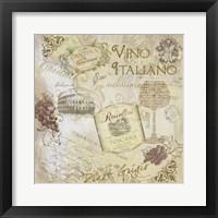 Framed Italian Wine