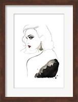 Framed Art Deco Vamp Girl Earring