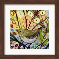 Framed Modern Bird IV