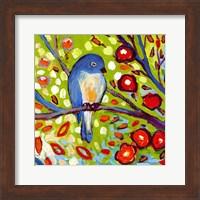 Framed Modern Bird III
