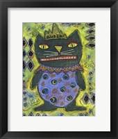 Framed Black Cat Queen