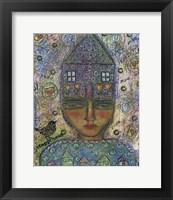 Framed House Head Lady