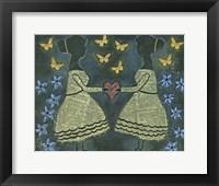Framed Silhouette Girls