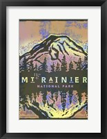 Framed Mt Rainier