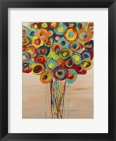 Framed Abstract Flowers 5