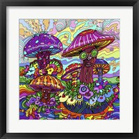 Framed Pop Art - Mushrooms