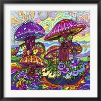 Framed Pop Art - Mushrooms