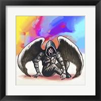 Framed Pop Art - Angel Warrior