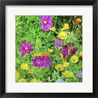Framed Pop Art Flowers