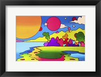 Framed Pop Art Landscape