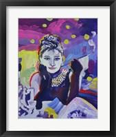 Framed Audrey Hepburn Tiffanys
