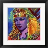Framed Claudette Colbert Cleopatra