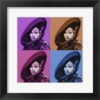 Framed Marlene Dietrich 4Up
