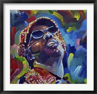 Framed Stevie Wonder