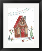 Framed Gingerbread House I