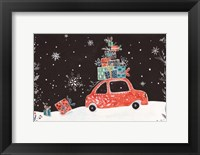 Framed Christmas Car I