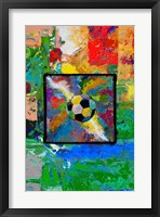 Framed Window into the Soccer Universe-  Red and Green Football