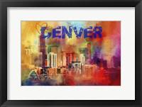 Framed Sending Love To Denver