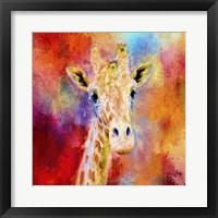 Framed Jazzy Giraffe