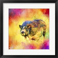 Framed Jazzy Pig