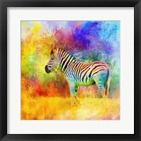 Framed Jazzy Zebra