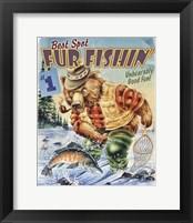 Framed Bear Fishing