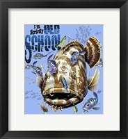 Framed Old School Grouper