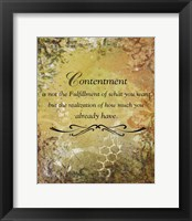 Framed Contentment (earth theme)