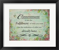 Framed Contentment (floral theme)