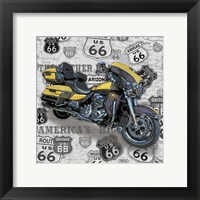 Framed Vintage Motorcycles on Route 66-F