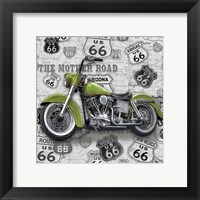 Framed Vintage Motorcycles on Route 66-H