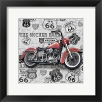 Framed Vintage Motorcycles on Route 66-I