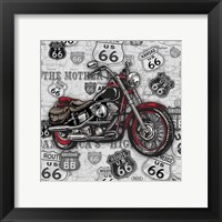 Framed Vintage Motorcycles on Route 66-1