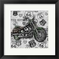 Vintage Motorcycles on Route 66-2 Framed Print