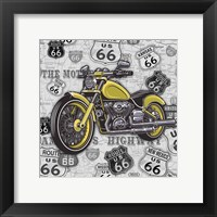 Vintage Motorcycles on Route 66-5 Framed Print