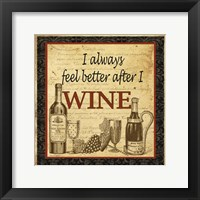 Framed Better after Wine